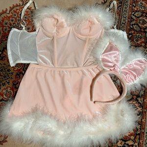 Playboy bunny velvet lingerie Halloween costume